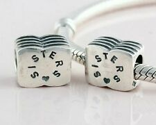 Sisters Charm Bead Sterling Silver S925