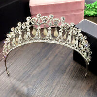 Princess Diana Replica Tiara, Silver, Pearl & Jewel Detailed For Wedding, Prom