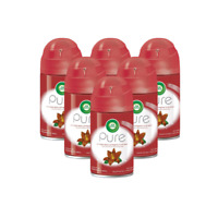 6 x Air Wick Smooth Lily Freshmatic Refill Pure Air Freshener 250ml 60 Days