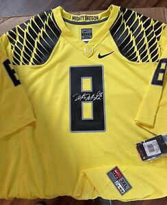 Marcus Mariota Signed Nike Yellow Game Day Oregon Ducks Jersey Upper Deck COA