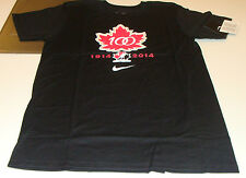 Canada 2015 World Juniors S Hockey Iihf 100th Anniversary T Shirt Black