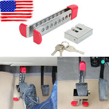 Durable Car Auto Stainless Clutch Lock Anti-theft Brake Pedal Lock Safe Supplies