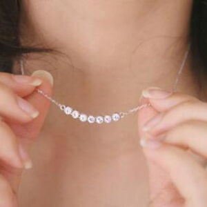 Top Quality Silver Plated Smile Little Star Pendant Necklace Crystal Necklace