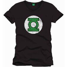 T-SHIRT LANTERNA VERDE Logo TShirt Green Lantern Logo Black 100% ORIGINALE