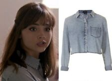 Topshop Cosplay Acid Wash Denim Shirt Blouse - Size 10