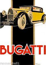 1930 Bugatti French France Automobile Car Vintage Advertisement Art Poster Print