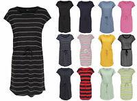 ONLY Damen Kleid onlMAY DRESS NOOS kurzarm Sommerkleid Shirtkleid Streifen Punkt