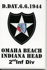WW2 - Magnet - D.DAY 6.6.1944 Omaha Beach - Indiana Head - 2nd Inf. Div.