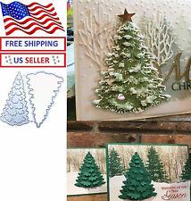 Christmas Tree Cutting Dies Cut Xmas Card Metal Stencil Scrapbooking Paper Craft