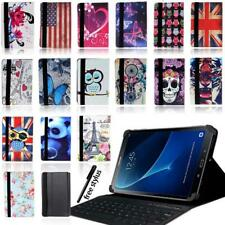 Leather Stand Cover Case +Bluetooth Keyboard For Samsung Galaxy Tab S1/2/3/4/5se