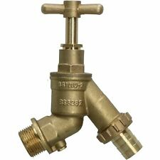 "Large 3/4"" High Flow Outside Garden Tap with Double Check Valve 3/4"""