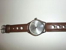 BERGMANN 1965 Germany Bauhaus - Sammlerstück – NEU Flieger Uhr Armban braun