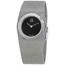 Calvin Klein Impulsive Black Dial Steel Mesh Ladies Watch K3T23121