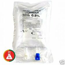 4 x SALINE FOR IV INFUSION 0.9% SODIUM CHLORIDE 500ML FREEFLEX FRESENIUS BAG