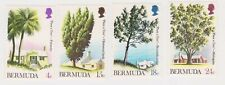 (K163-142) 1973 Bermuda set of 4stamps trees (XDG)