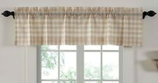 60� W Lined Window Valance Country Farmhouse Wheat-Colored Annie Buffalo Check