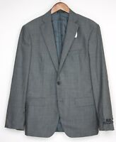John Varvatos Luxe Mens Suit 40R 33W Gray Check Wool Flat Front Pants Coat