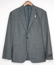 "NEW John Varvatos Luxe Wool Suit 40R 33W *34"" Gray Check Flat Front Pants Jacket"