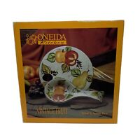 Oneida Kitchen Vintage Fruit Trivet & Spoon Rest NIB Colorful Kitchenware