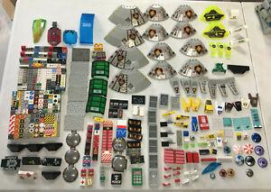 LOT LEGO VRAC PIECES Sérigraphiées - Space - City - Pompier - Castle