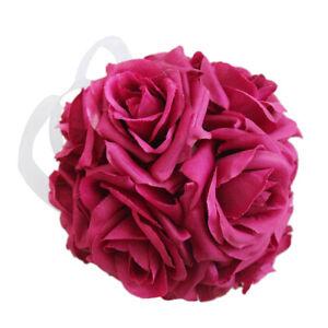 Silk Rose Bouquet Artificial Flower Balls For Wedding Decor