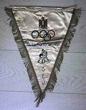 Rare Vintage Olympic pennant  NOC EGYPT embroidered
