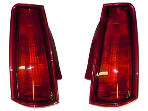 1990-1992 Lincoln Mark VII LSC Tail Light PAIR Currant (F1LY13405B + F1LY13404B)