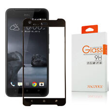 Nacodex For Htc X9 Full Cover Tempered Glass Screen Protector -Black