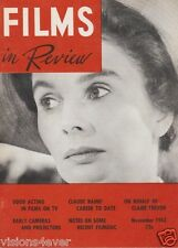 FILMS IN REVIEW MAGAZINE*  NOV 1963 * VOL 15 NO. 9 *GOOD ACTING IN FILMS ON TV