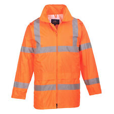 PortWest Men Hi-Vis Rain Jacket Orange/Yellow Multi Size H440