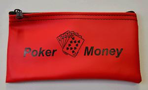 Poker Gambling Money Bag Purse Wallet Casino Player Custom Zipper Wallet Chips