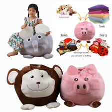 Baby Stuffed Animal Plush Toy Storage Bean Bag Soft Pouch Animal Sleeve Doll