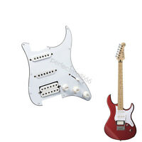 3Ply White Loaded Pickguard HSS w/ Pickups for Squier Strat Guitar Prewired