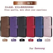 For Samsung Cover Hot Simple Antislip Leather Silicone Card Soft Flip Phone Case
