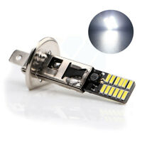 2X White H1 6500K 24-SMD 4014 LED Car Replacement Bulb For Fog Light Driving DRL