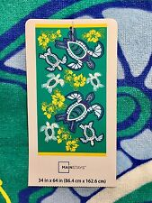 """Mainstays Sea Turtles Beach Towel 34"""" x 64"""" New With Tags"""