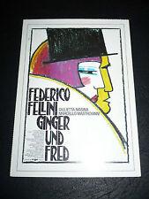 GINGER AND FRED, film card [Guilietta Masine, Marcello Mastroianni] - Fellini