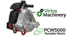 PCW 5000 Portable Winch, Petrol Powered, Honda Engine