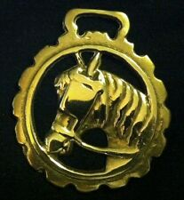 Light Weight HORSE IN BLINKERS Dog Toothed Frame Horse Harness Brass England
