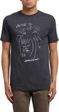 Volcom Tropical D Short Sleeve T-Shirt in Heather Black
