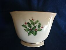 Lenox Holly & Berry Holiday Candy or Nut Bowl with Gold Trim