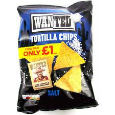 Wanted Tortilla Chips Salt Flavour Full Case 12 x 150g