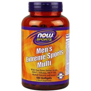 NOW Mens Extreme SPORTS MULTI Multivitamin Tribulus 180 Softgels MUSCLE VITAMINS