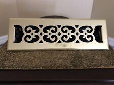 Floor Register With Lovered Design Polished Brass 2 X 10.