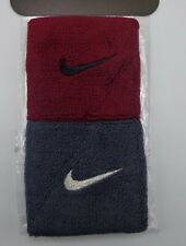 Nike Singlewide Wristbands Team Red/Black/Anthracite/Meta llic Silver