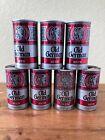 *LOT* STEEL VINTAGE Pull Tab Beer Cans, Famous Flavor Old German Silver