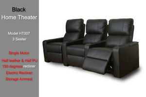 Electric Recliner Chair Sofa Lounge 3 Seater Armchair Leather Storage Arm USB