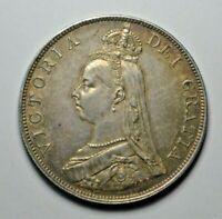 Victoria, jubilee head double florin 1888