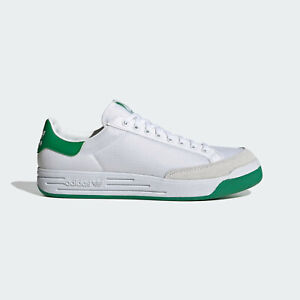 adidas Rod Laver Mens Trainers in White and Green