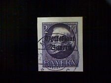 Stamp, Germany, Bavaria, Scott#171, used(o), imperforated, 2m, violet